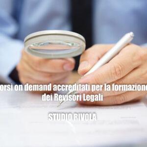 Formazione on demand accreditata per Revisori Legali