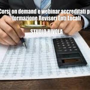 Formazione on demand accreditata per Revisori Enti Locali